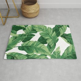 Tropical banana leaves IV Rug