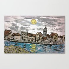 OLD FLEMISH TOWN Canvas Print