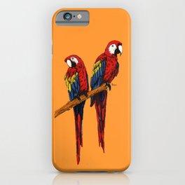 Loving Scarlet Macaws iPhone Case