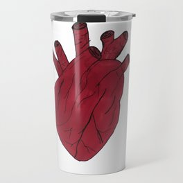 Anatomical heart white Travel Mug