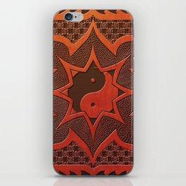 daorashi woodcut mandala iPhone Skin
