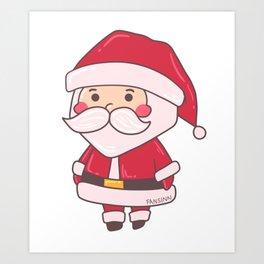 Christmas Nikolaus children winter snow gift Art Print