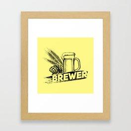 Brewer Hop Malt Beer II - Drinking Beer Gift Framed Art Print
