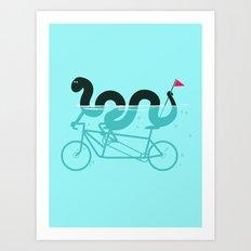 bike loch Art Print