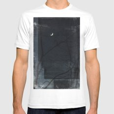 Abstract MEDIUM Mens Fitted Tee White