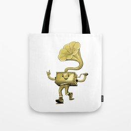 gramaphone Tote Bag