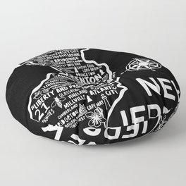 New Jersey Map  Floor Pillow