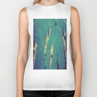 dolphin Biker Tanks featuring Dolphin by Amandine