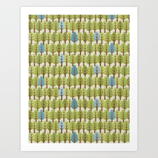 Woodland Trees Art Print