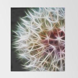 Fractal dandelion Throw Blanket