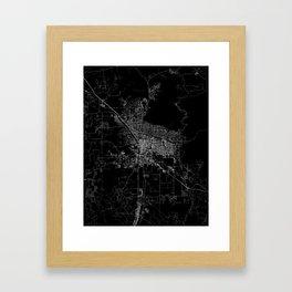 tucson map Framed Art Print