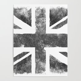 Grey UK Flag Poster