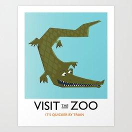 Visit the zoo Alligator Art Print