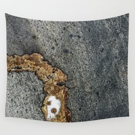 Gold Inlay Marble Wall Tapestry