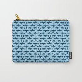 Pattern: Great White Shark  ~ Light Blue ~ (Copyright 2015) Carry-All Pouch