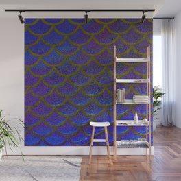Dandelion Denim Scales Wall Mural