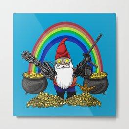 Gnome Guns Metal Print