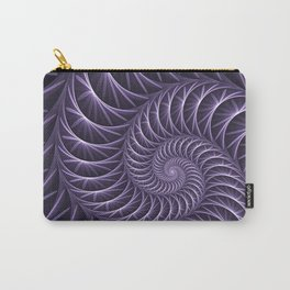 Fractal Lilac Flower Spiral Carry-All Pouch