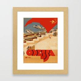 Vintage poster - Odessa Framed Art Print