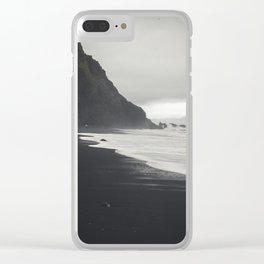 Black Sands Clear iPhone Case