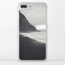 Black Sands Clear iPhone Case