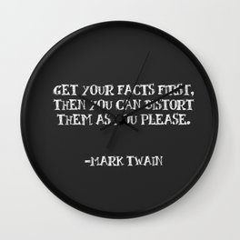Facts are Funny Things Wall Clock