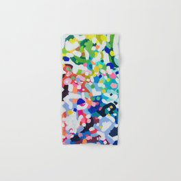Rainbow Kaleidoscope by Ejaaz Haniff Colorful Art Abstract Painting Acrylic Painting Fun Shapes Pattern Hand & Bath Towel