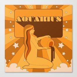 AQUARIUS ORANGE Canvas Print