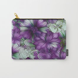 Violets and Greens Carry-All Pouch