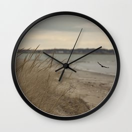 Seaside Serenity Ocean Seaside Beach Neutral Fine Art Prints Gifts Wall Clock