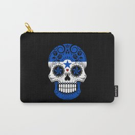 Sugar Skull with Roses and Flag of Honduras Carry-All Pouch