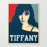 snsd Canvas Prints featuring Tiffany SNSD Hopeless Design by Timeless-Id