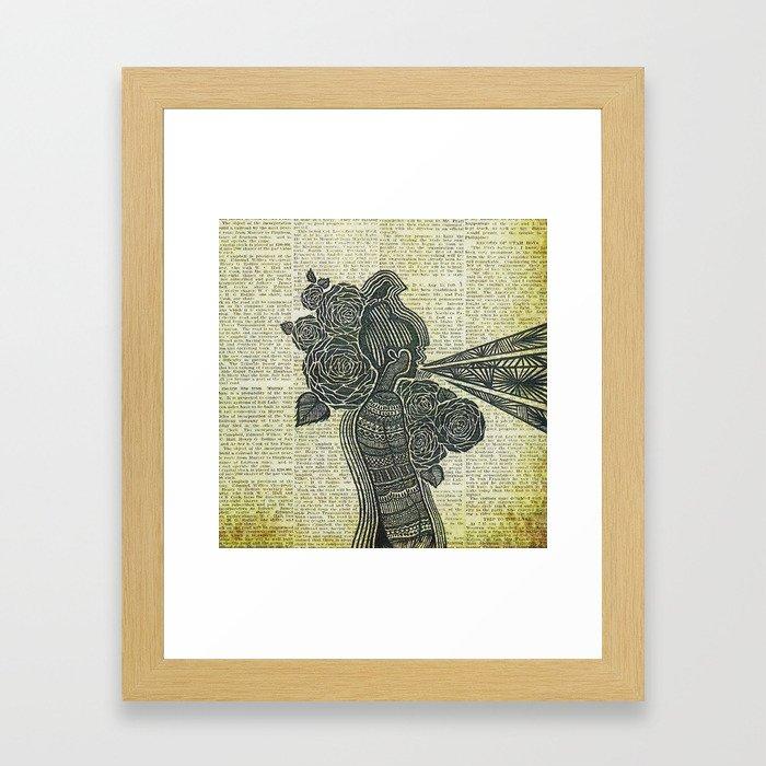 Nature Blows Framed Art Print