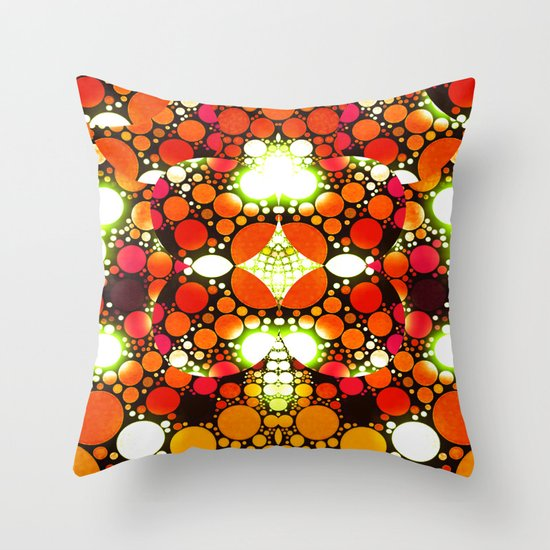 NEON NIGHTS III Throw Pillow