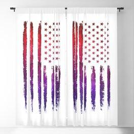 Red & blue gradient USA flag Blackout Curtain