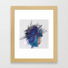 Floating head 1 Framed Art Print