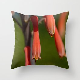 Orange Drops Throw Pillow