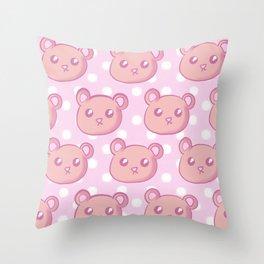 Teddies and Polka Dots Throw Pillow