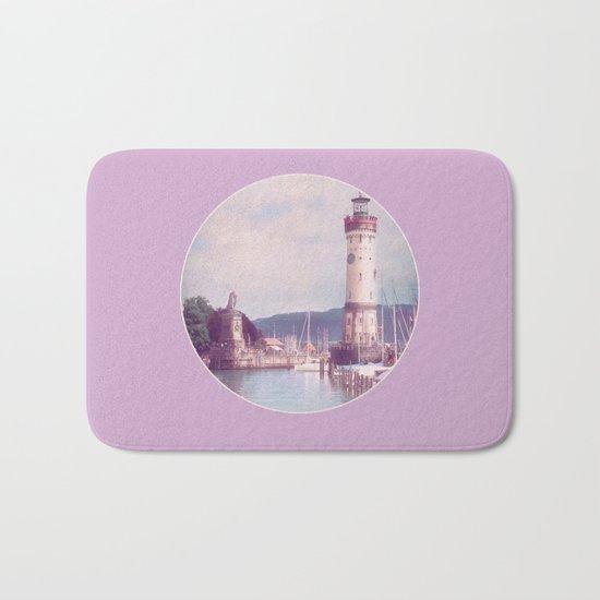 Lighthouse at Lindau, Lake of Constance Bath Mat