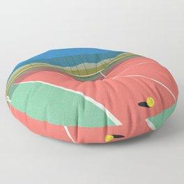 Tennis Court In The Desert Floor Pillow