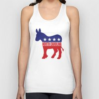 north carolina Tank Tops featuring North Carolina Democrat Donkey by Democrat