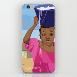 African Village Girl iPhone Skin