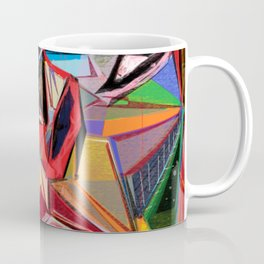 The Red Stiletto, a digital abstract artwork Coffee Mug