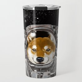 Astronaut Shiba Inu Travel Mug