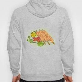 Chicken Kebabs Vegetables Drawing Hoody