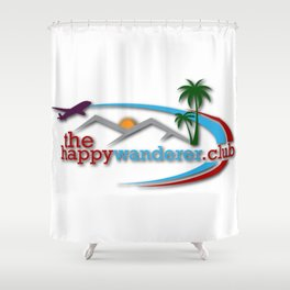 The Happy Wanderer Club Shower Curtain