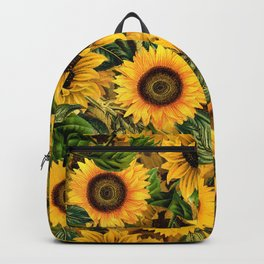 Vintage & Shabby Chic - Noon Sunflowers Garden Backpack