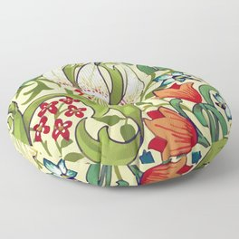 William Morris Garden Lily Floral Print Floor Pillow