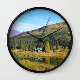 Lake Retreat - Alaska Wall Clock