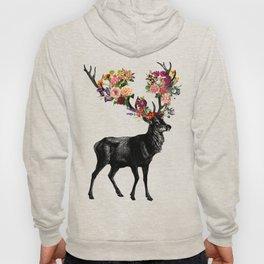 Spring Itself Deer Floral Hoody